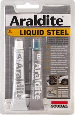 Soudal Araldite Liquid Steel dvousložkové lepidlo na kov 2x15 ml