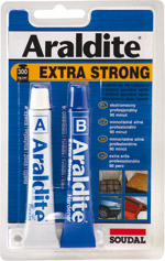 Soudal Araldite Extra Strong dvousložkové lepidlo univerzální silné 2x15