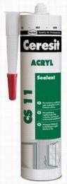 Akrylový tmel Ceresit CS11 bílý, 300 ml